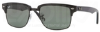 Ray Ban RB4190 Demi Gloss Black/Black with Crystal Green Lenses