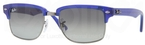 Ray Ban RB4190 Semi Gloss Blue/Gunmetal with Crystal Gradient Grey Lenses