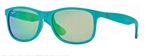 Ray Ban RB4202 Matte Turquoise/Brown with Turquoise Mirror