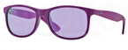 Ray Ban RB4202 Matte Violet/Grey with Violet Mirror Lenses