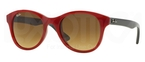 Ray Ban RB4203 Red w/ Brown Gradient Lenses