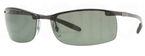 Ray Ban RB8305 Dark Carbon Black with Polar Green