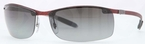 Ray Ban RB8305 Light Carbon with Polarized Grey Gradient Lenses