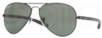 Ray Ban RB8307 Black with Polarized Crystal Green Lenses