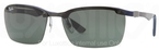 Ray Ban RB8312 Dark Carbon-Rubber Blue with Green Lenses
