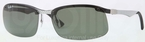 Ray Ban RB8314 Light Carbon-Rubber Black with Polarized Green Lenses