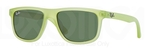 Ray Ban Junior RJ9057S Acid Green Demishiny w/ Green Lenses