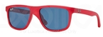 Ray Ban Junior RJ9057S Red Demi Shiny w/ Blue Lenses