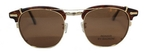 Shuron Ronsir CLIP ON Polarized Gold with Polarized Brown Lenses