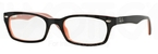 Ray Ban Glasses RX5150 Black On Pink