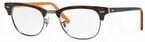 Ray Ban Glasses RX5154 Clubmaster Top Dark Havana on Orange