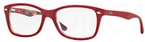 Ray Ban Glasses RX5228 Top Matte Red on Texture Camuf