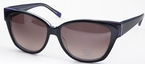 Vera Wang Therese Black/Purple with Grey Gradient Lenses