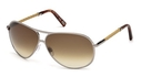 Tod's TO0008 Shiny Light Ruthenium with Gradient Brown Lenses