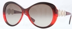 Versace VE4256B Dark Bordeaux/Red w/ Brown Gradient Lenses
