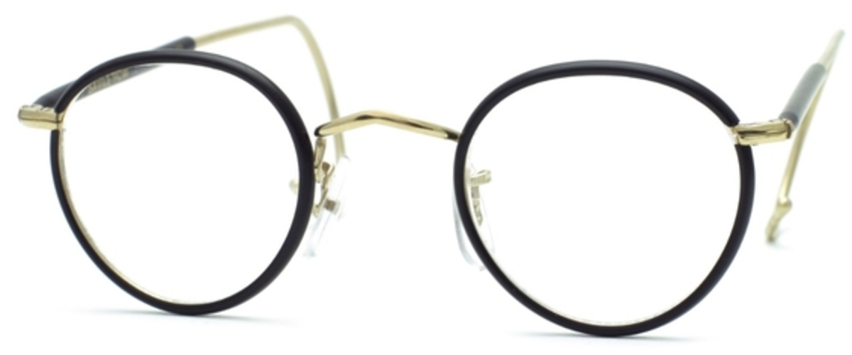 Glasses Frames With Cable Temples : Savile Row Beaufort Panto 18Kt, Cable Temples Eyeglasses ...