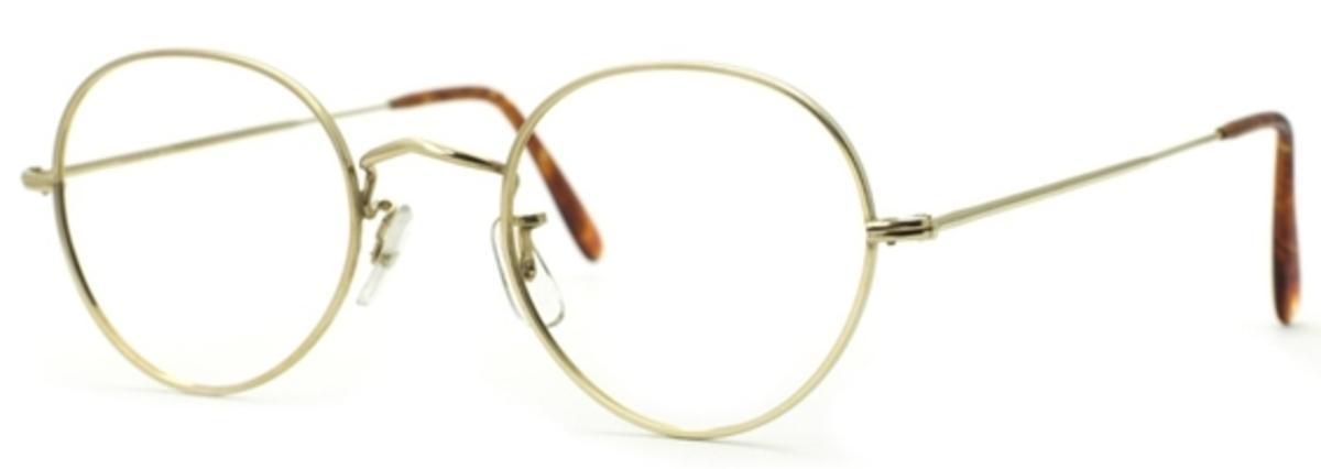 Savile Row 14KT Center Joint Panto, Skull Temples Eyeglasses