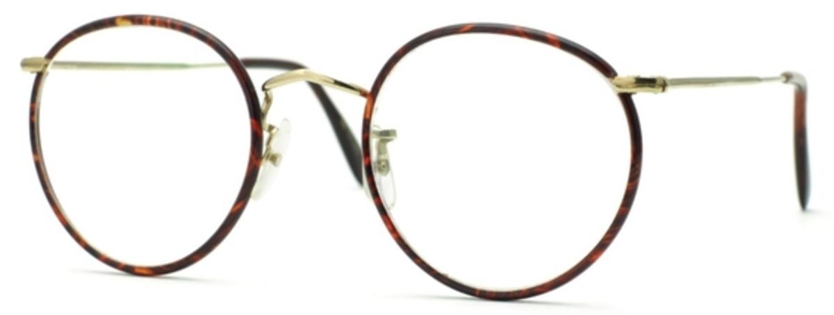 Savile Row Panto 18Kt, Skull Temples Eyeglasses