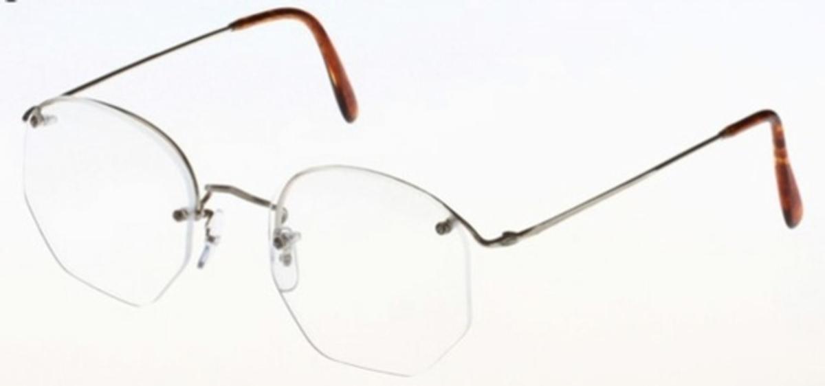 Savile Row Rimway 18Kt, Skull Temples Eyeglasses