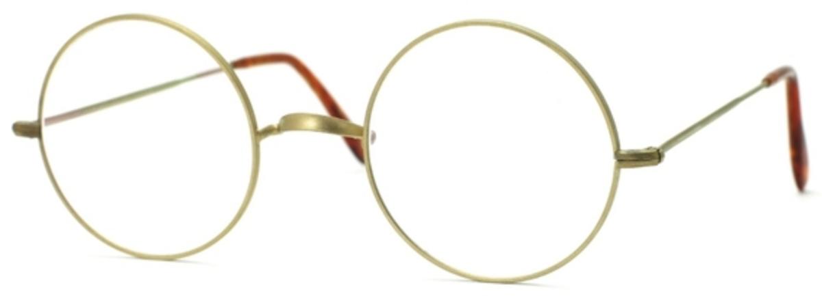 Savile Row Round Warwick 18Kt, Skull Temples Eyeglasses