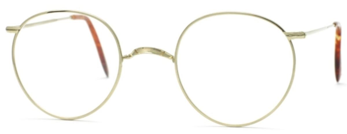 Savile Row Windsor 18Kt, Skull Temples Eyeglasses