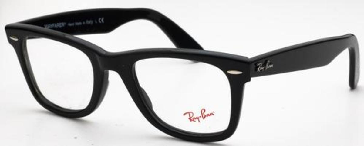 ray ban wayfarer eyeglasses  ray ban glasses rx5121 wayfarer shiny black. shiny black