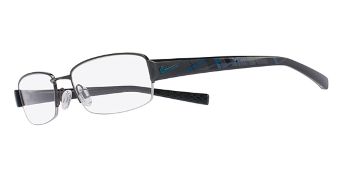 Rimless Glasses Polished Edges : Nike 8073 Eyeglasses Frames