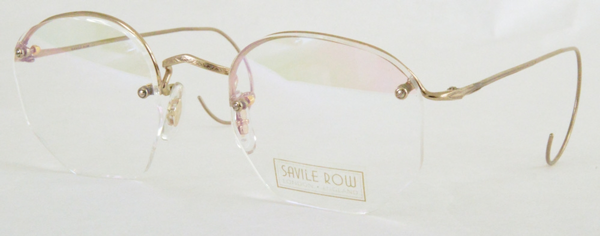 Rimless Eyeglass Frames With Cable Temples : Savile Row Rimway 18Kt, Cable Temples Eyeglasses Frames