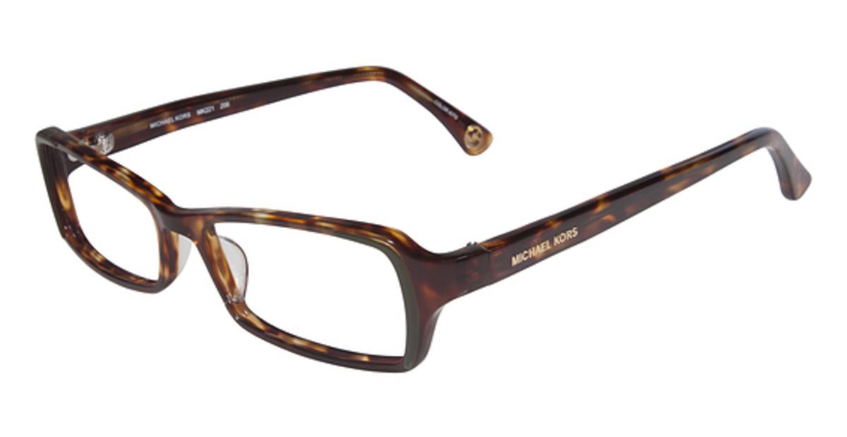 Michael Kors Black Frame Glasses : Michael Kors MK221 Eyeglasses Frames