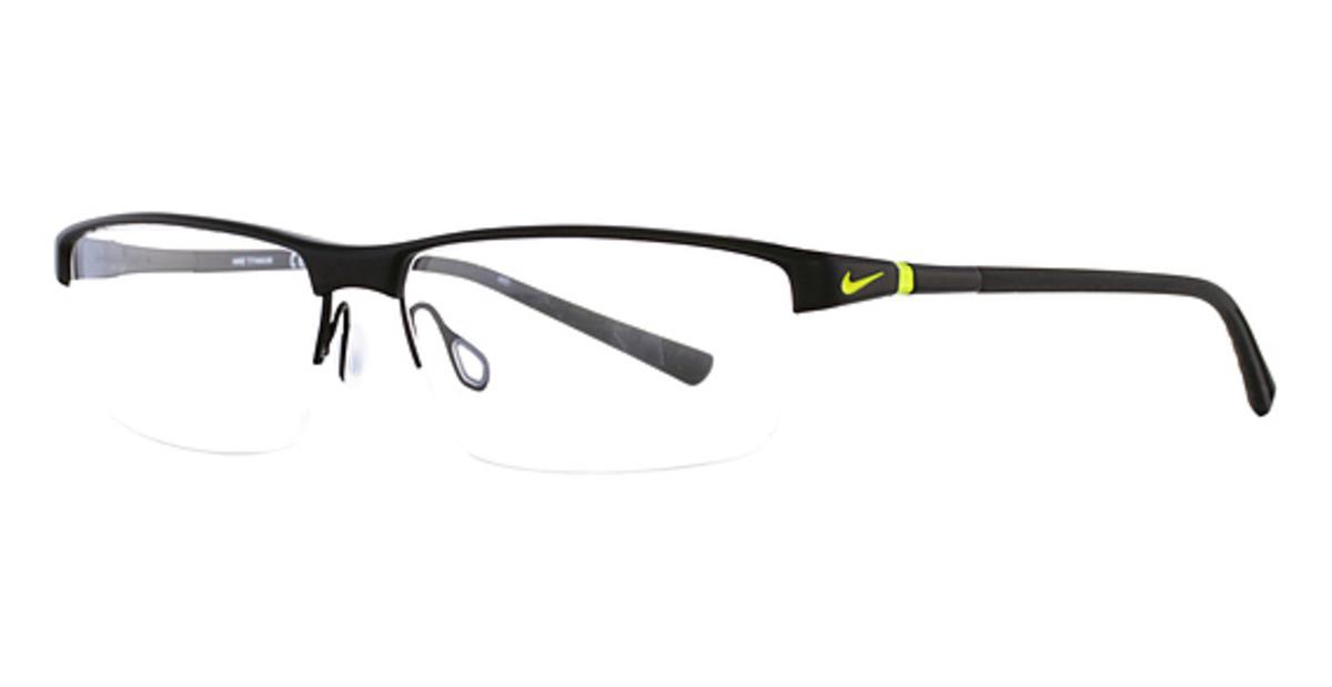 Nike Black Frame Glasses : Nike 6052 Eyeglasses Frames