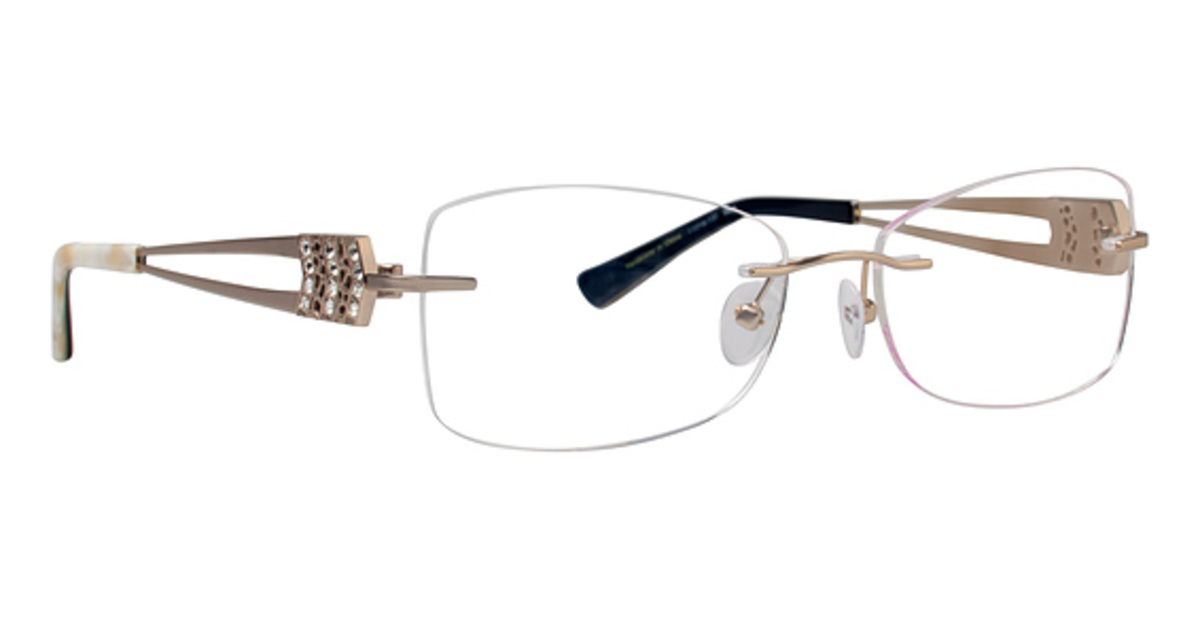 Rimless Gold Eyeglass Frames : Totally Rimless TR 216 Eyeglasses Frames
