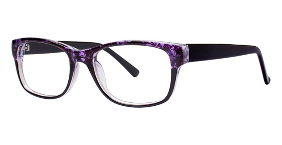 ac8b25575a Modern Plastics I Floral Purple Black. Purple Black