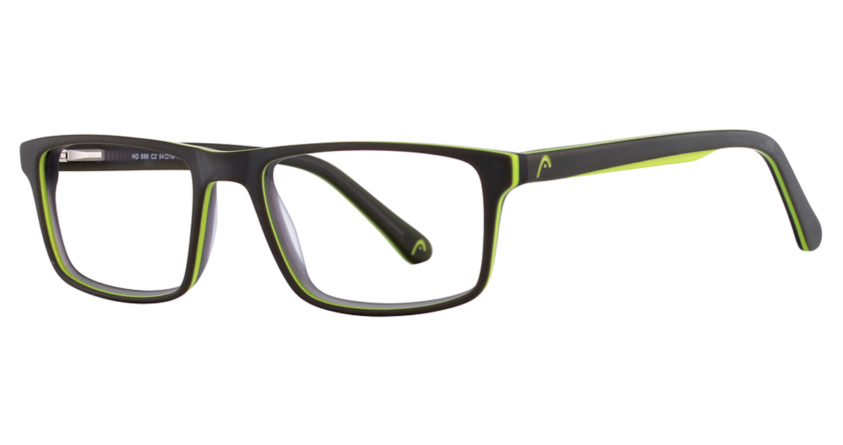 Best Eyeglass Frames For Big Heads : Head 686 Eyeglasses Frames