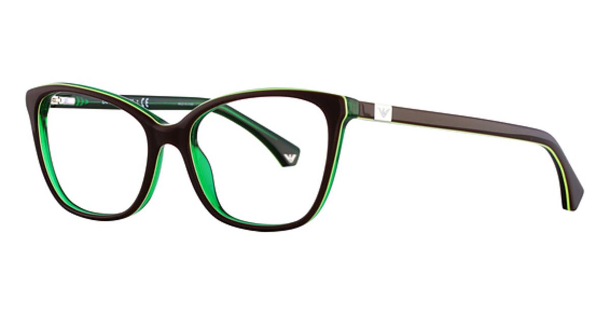 White Frame Armani Glasses : Emporio Armani EA3053 Eyeglasses Frames
