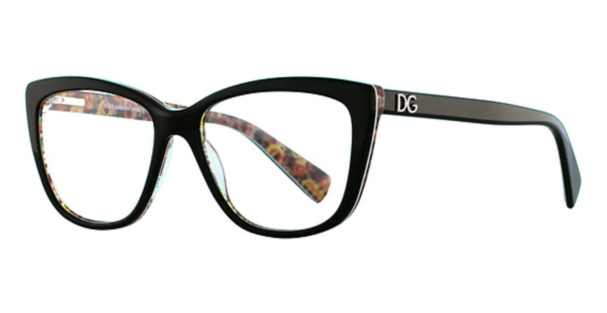 38357073624 Printing Roses On Black. Dolce   Gabbana DG3190 Top Black Mosaic. Top Black  Mosaic