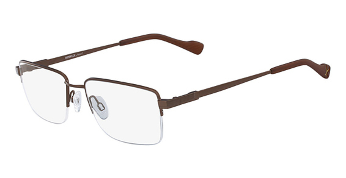 AUTOFLEX 105 Eyeglasses (210) Brown -  Flexon, 436510