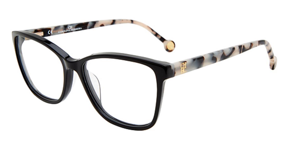 6af4a0bd70f Ch Carolina Herrera Vhe717k Black 0700. Ch Carolina Herrera Vhe717k  Eyeglasses Frames