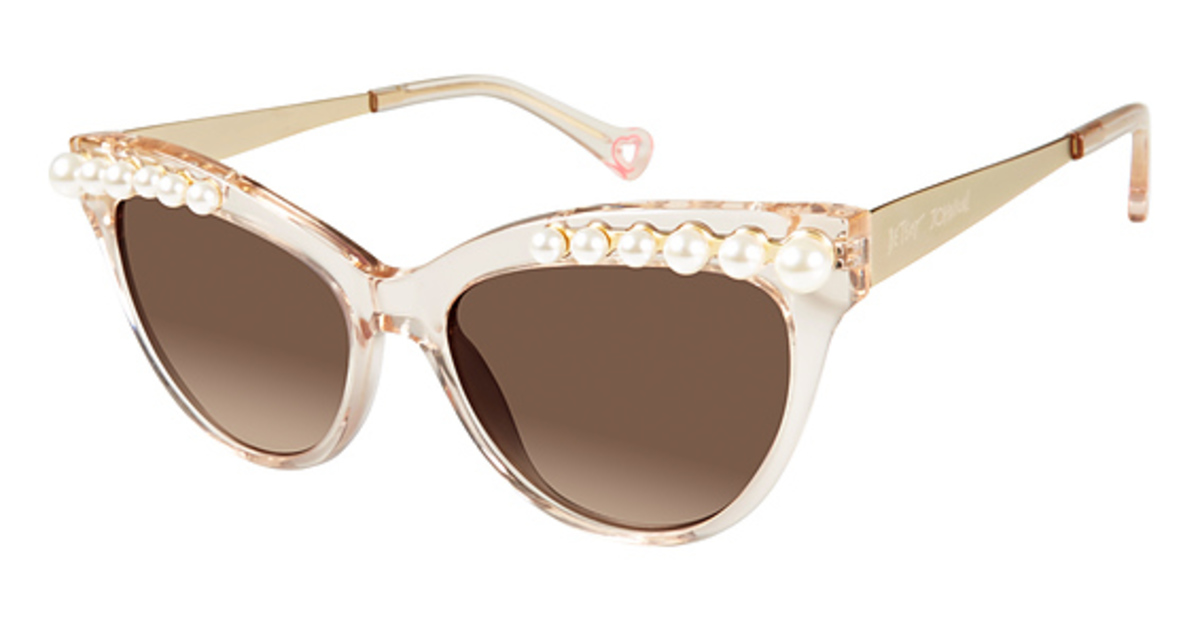 Betsey Johnson Kitty Pearls Eyeglasses Frames