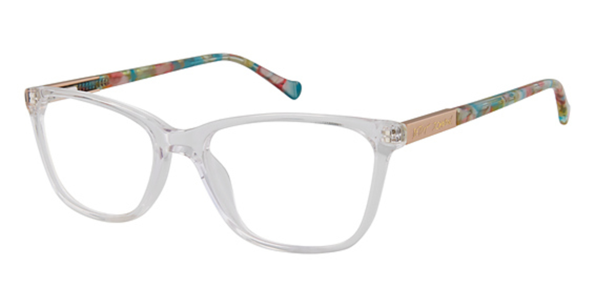 28c2e2eb34f1 Betsey Johnson Crystal Clear Eyeglasses Frames