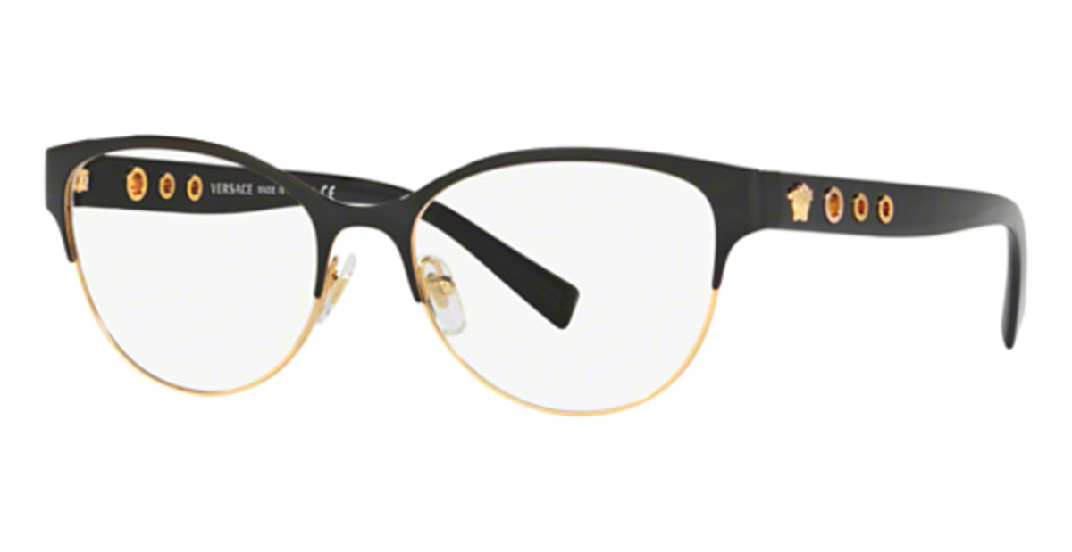 83a4bc67cd214 Black And Gold Versace Eyeglasses - The Gold Picture