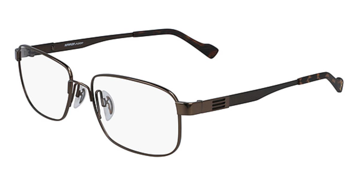 AUTOFLEX 112 Eyeglasses (210) Brown -  Flexon, 484851
