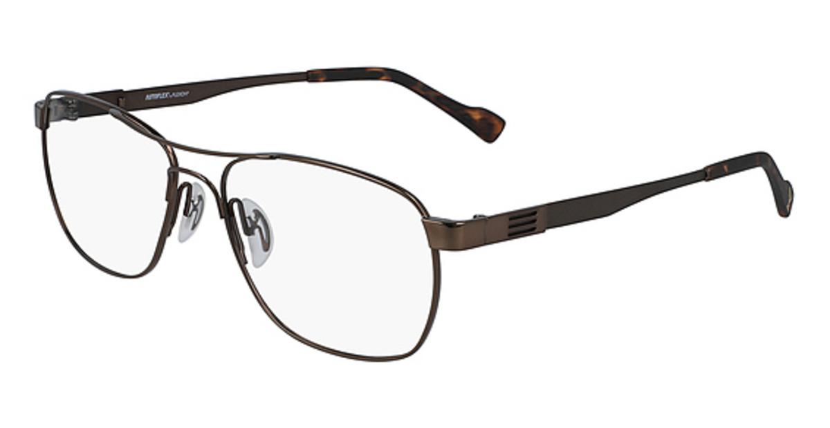 AUTOFLEX 113 Eyeglasses (210) Brown -  Flexon, 484852