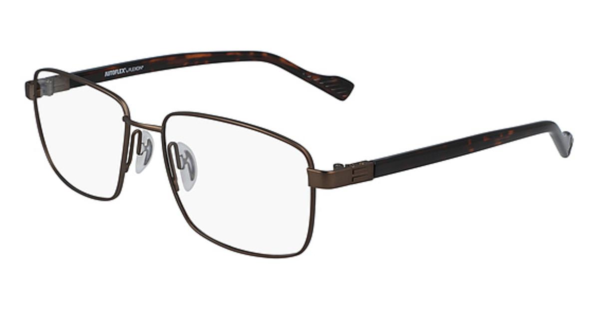AUTOFLEX 114 Eyeglasses (210) Brown -  Flexon, 494342