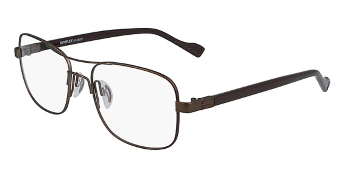 AUTOFLEX 115 Eyeglasses (210) Brown -  Flexon, 494343