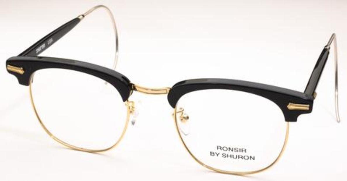 d5433f373a Shuron Ronsir Zyl Ebony Gold with Relaxo Cable Temples. Ebony Gold with  Relaxo Cable Temples