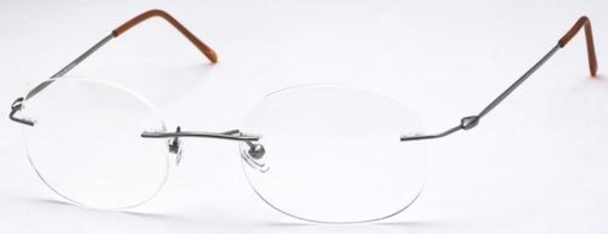 Rimless Rectangle Glasses : Chakra Eyewear Rimless 3000/4 Rectangle Eyeglasses Frames