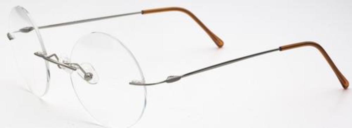 Rimless Eyeglasses Executive Optical : Chakra Eyewear Round Rimless 3000/3 Eyeglasses Frames