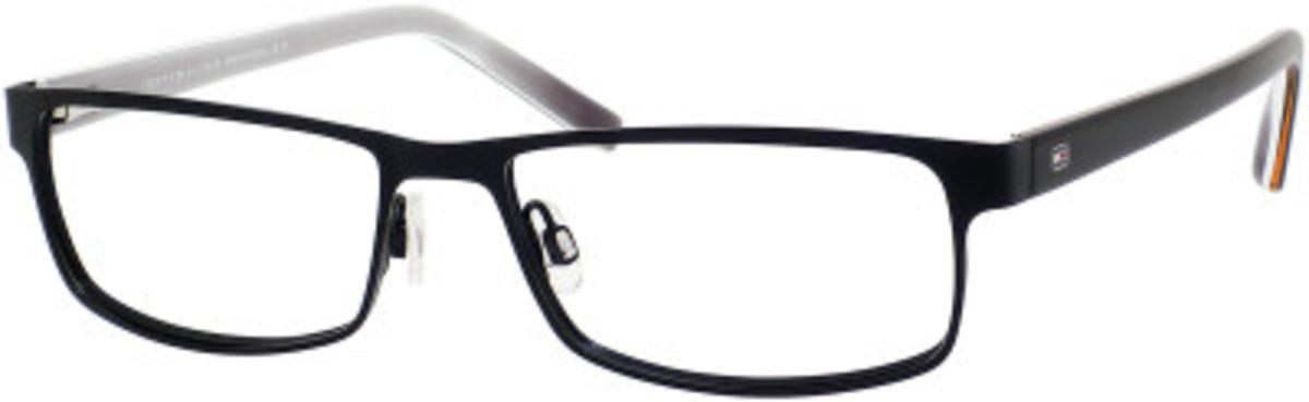 Th 1127 Eyeglasses Matte Black / White Gray