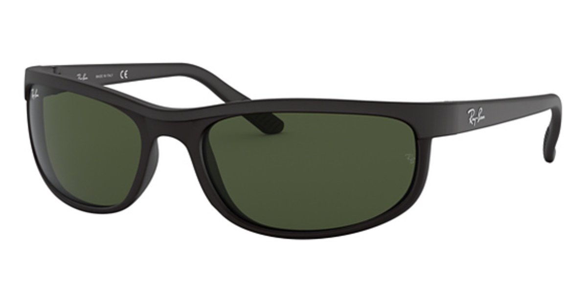 60e9044fedc Black with Polarized Crystal Mirror Grey Lenses · Ray Ban RB2027 (Predator  2) Black Matte Black with Crystal Green Lenses