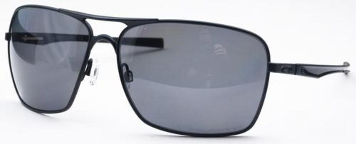 270b0050d7 Matte Black with Polarized Grey Lenses · Oakley Plaintiff Squared OO4063  Polished Black with Warm Grey Lenses